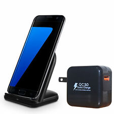 Wireless Charging Stand (QC3.0 Compatible Quick Charger included) (black)