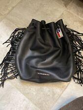Victoria Secret Black Fringe Backpack