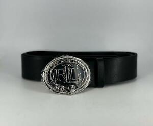Ralph Lauren Seal Plaque Belt Black Large TD110 RR 04