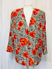 Vintage 1990's Silk Jacket With Poppies. Womens. Small. Mint.