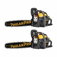 "Poulan Pro 20"" Bar 50cc 2 Cycle Gas Chainsaw (Certified Refurbished) (2 Pack)"