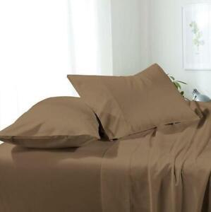 Split Top (Flex) King Hotel Luxury Microfiber Bed Sheets Set Deep Pockets 4-PC