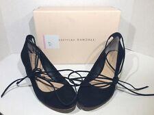 Loeffler Randall Clara Women's Size 8 Black Ankle Tie Heels Shoes ZG-1510