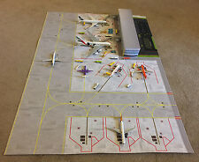 Model Airport Apron Layout with built in 3D pop-up terminal 1/500/1/400 scale.