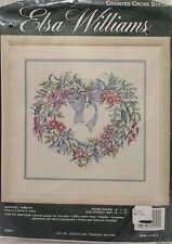 Counted Cross Stitch Kit Valentine Elsa Williams Heartfelt Wreath NEW SEALED