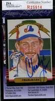 Charlie Lea 1985 Donruss Diamond Kings Jsa Coa Signed Authentic Autographed