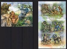 MOZAMBIQUE 2011 FAUNA PRIMATAS DE MOZAMB MONKEY MACACA WILD ANIMALS STAMPS MNH**