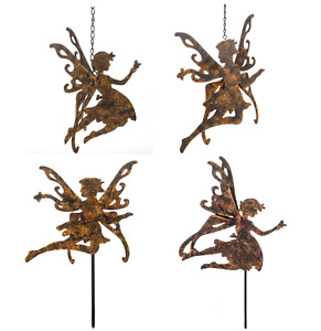 Garden Fairy Decorations Rustic Hanging Ornament Stake Flowers Pots Tubs Borders