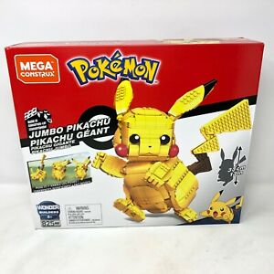 "NIB Mega Construx Pokemon Jumbo Pikachu 13"" Building Set Construction 825 Pieces"