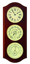 Fischer Weather station ins. Clock Thermometer Barometer Hygrometer, 9178U-22-UK