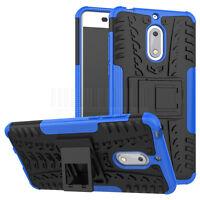 Slim Armor Hard Rugged Hybrid Back Case Protective Kickstand Cover For Nokia 6