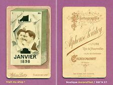 CDV POURTOY à CHAUMONT : CARTE PHOTOMONTAGE DE BONNE ANNÉE 1898, COUPLE -N37