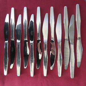 CHRISTOFLE : 12 couteau à entremet en métal argenté modèle Orly par léo sabatini