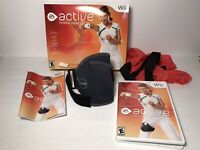 Wii Active Personal Trainer Package Game Disc Manual Leg Strap Resistance Band