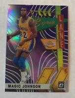 2019-20 NBA Optic Magic Johnson Express Lane Purple Holo Prizm SP #20 LA Lakers