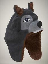 New GAP Fleece Fur Sherpa Lined  Winter Trapper Wolf Dog Hat Boy S/M (2-3)
