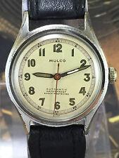 Rare Doctor's Military  Mulco Automatic Bumper Cal. Anton Schild AS 1171 Vintage