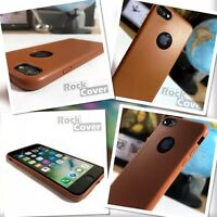 Apple iPhone 8 Case Genuine Rock Cover TPU Flexible Tech Silicone Leather Brown