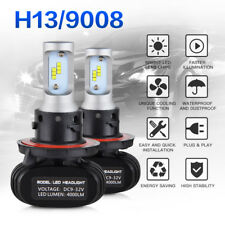H13 9008 LED Headlight Bulbs Hi/Low Beam For Dodge Ram 1500 2500 3500 4500 5500
