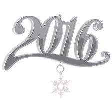 2016 Hallmark Ornament Metal Snowflake Charm  Dangler  Silver  Mirror Finish
