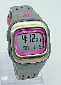 Women's NEW BALANCE 110 Digital HRT LCD Sport Watch, Gray/Pink ECG Accurate