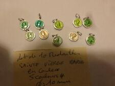 lot de 10 medailles Sainte Vierge Marie 5 couleurs differentes  Mary 's medals