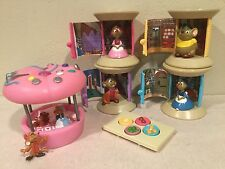 Disney Store Cinderella Sewing Spool Play Sets LOT + Pin Cushion Figures + Table