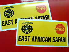 EAST AFRICAN SAFARI Race Rally Stickers Decals 2 off 150mm