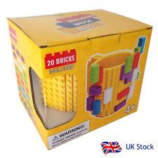 Building brick mug inc. 20 bricks - YELLOW