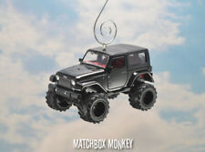 2014 Black Lifted Jeep Wrangler Rubicon X Hard Top Christmas Ornament Unlimited