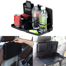 Car Headrest Back Seat Tray Folding Desk Storage Drink Food Dinner Table Holder