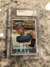 1967 TOPPS BGS BVG 7 NEAR MINT HANK AARON GRADED #250 GREAT EYE APPEAL!!