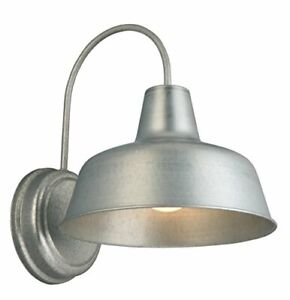 Design House 520965 Mason 1 Light Indoor/Outdoor Wall Light Galvanized Steel ...