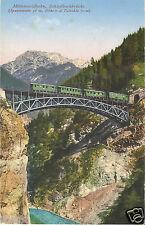 Eisenbahn, Mittenwaldbahn, Schloßbachbrücke,  Photochromie, alte Ak um 1910