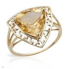 STUNNING SOLID 10K YELLOW GOLD GENUINE 2.75 CTW CITRINE RING 7 / O - U$730