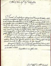 Manoscritto al Canonico Paolo Bacci Magistrato Subbiano Castelluccio Capolona