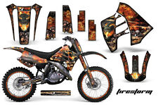 Suzuki RM 125/250 Graphic Kit AMR Racing # Plates Decal Sticker MX 89-92 FIRE S