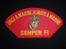 Usmc Once A Marine, Always A Marine Semper Fi Aufnäher
