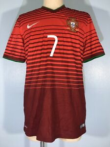 PORTUGAL WORLD CUP 2014 RONALDO #7 NIKE PLAYER FOOTBALL SHIRT SOCCER JERSEY M