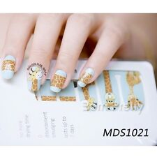 14pcs/ Sheet Deer Nail Wraps Crack Nail Art Full Decals Stickers Foils  MDS1021