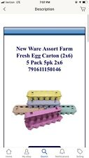 Ware Mfg. Inc.-Farm Fresh Egg Carton (2x6) 5 Pack- Assort 5pk 2x6