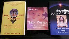 Lot of 3 books Decoding Karma, Star Babies,  Small Mediums at Large, Psychics