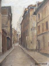 GASTON LABORDE 1892-1965  MONTMARTRE PARIS  HUILE / CARTON  HST TABLEAU PAINTING