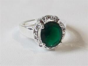 W0269...CUBIC ZIRCONIA RING - SILVER PLATED - SIZE 7 - FREE UK P&P