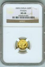 2005 China Gold 20Y Panda NGC MS68