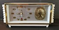 "Vintage Shanghai China Diamond  Fancy Clock Alarm 9"" Long"