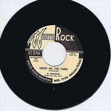 BIG AL DOWNING - DOWN ON THE FARM / OH BABE - WILD & HOT BLACK ROCKERS - Repro