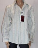 no truth Brand Men's White Striped Long Sleeve Shirt Size M BNWT #sM08