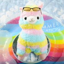 Alpacasso Arpakasso Amuse Rainbow Striped Llama Alpaca Stuffed Plush Doll 14''