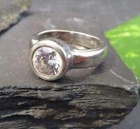 Großer 925 Silber Ring Zirkonia Solitär Einsteiner Weiß Massiv Breit Wie Diamant